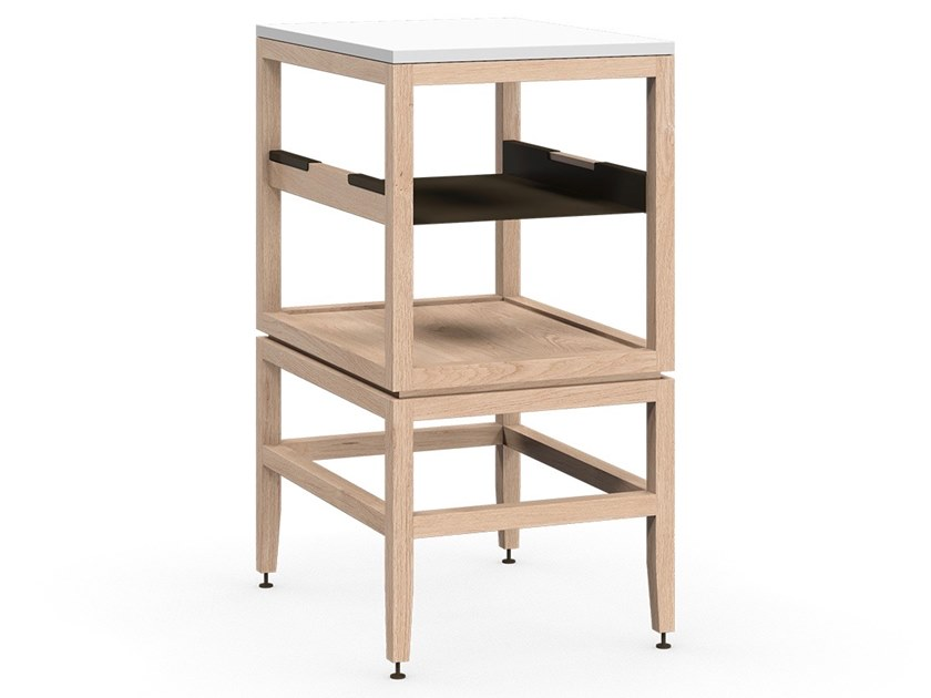 Solid wood kitchen unit VOLITARE | Open cabinet with shelf by Coquo