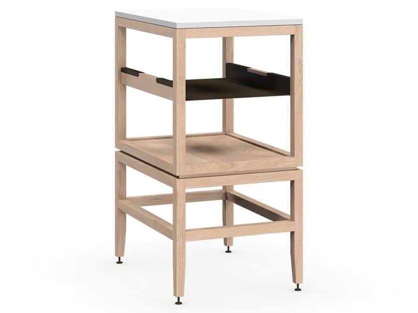 Modulo cucina freestanding in legno massello VOLITARE ...