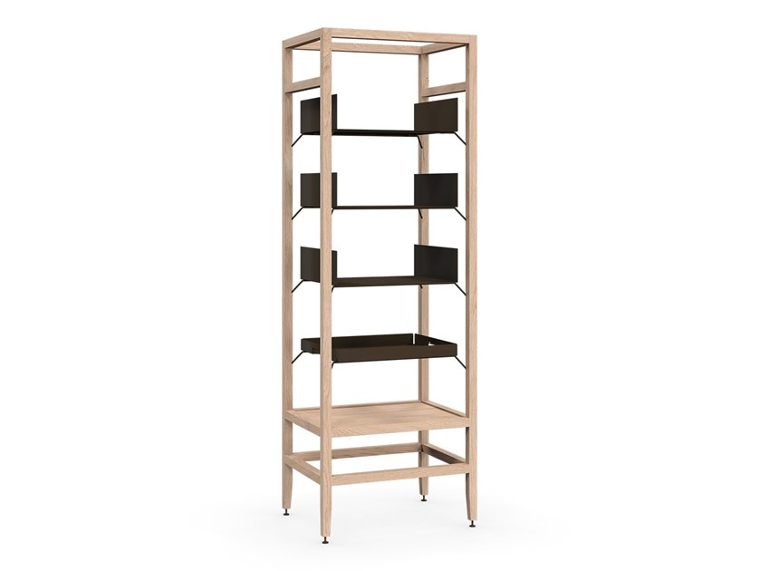 Modular wooden bookcase VOLITARE | Solid wood bookcase by Coquo