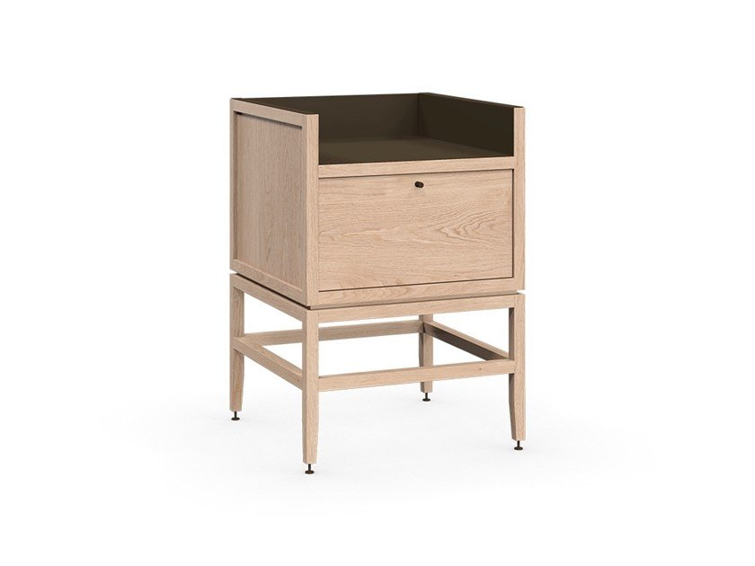 1 drawer coffee bar cabinet VOLITARE | Wooden bar cabinet by Coquo