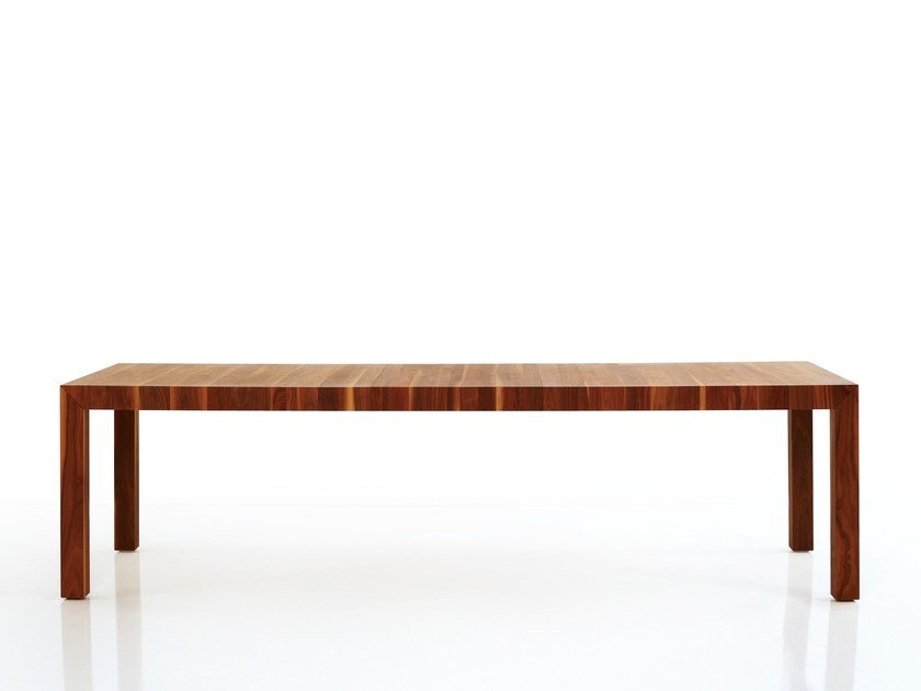 Extending solid wood table VOLTA | Extending table by more