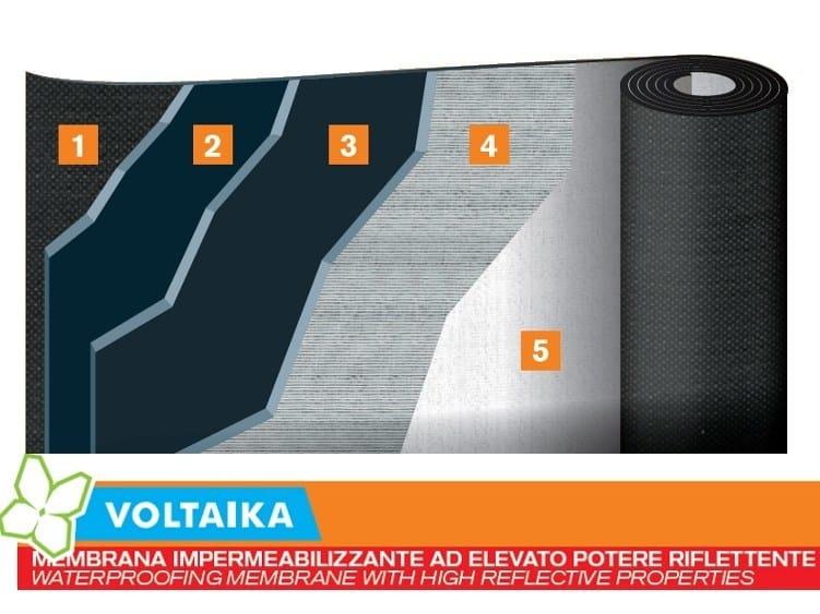Prefabricated bituminous membrane VOLTAIKA by PLUVITEC