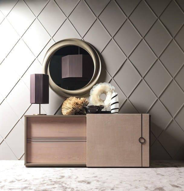 Specchio rotondo a parete con cornice VORTEX by Caroti