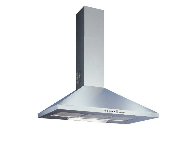 Stainless steel cooker hood with integrated lighting VORTICE 90-I by Vortice