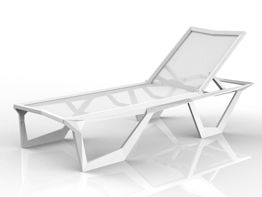 Recliner polypropylene sun lounger VOXEL   Sun lounger by VONDOM