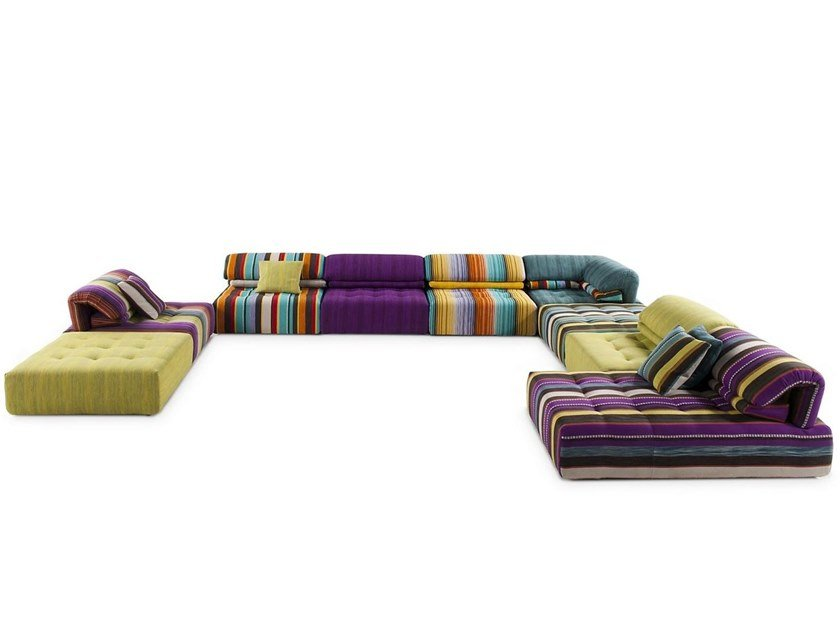 Sectional modular fabric sofa VOYAGE IMMOBILE by ROCHE BOBOIS