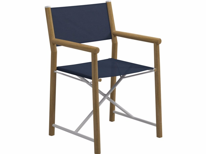 Garden chair with armrests VOYAGER | Directors chair by Gloster