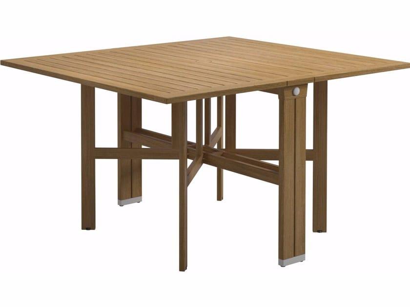 Folding rectangular teak garden table VOYAGER | Rectangular table by Gloster