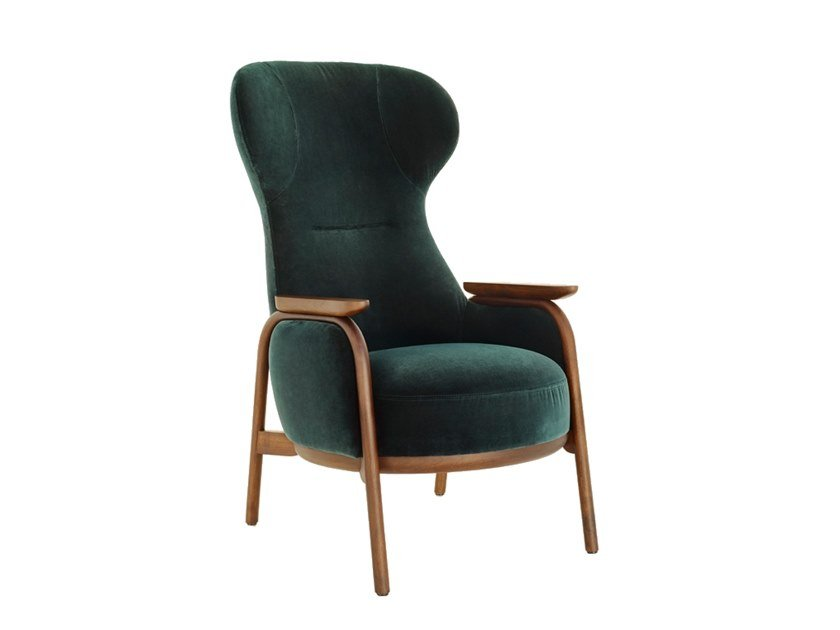Wing armchair with armrests VUELTA | Wing armchair by Wittmann