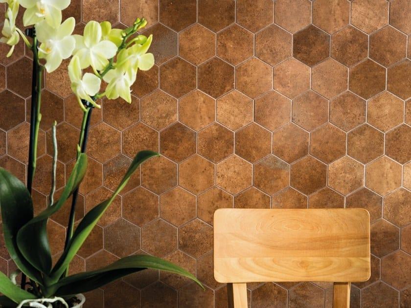 Porcelain stoneware wall/floor tiles VULCANIKA RAKU RUGGINE by Provenza by Emilgroup
