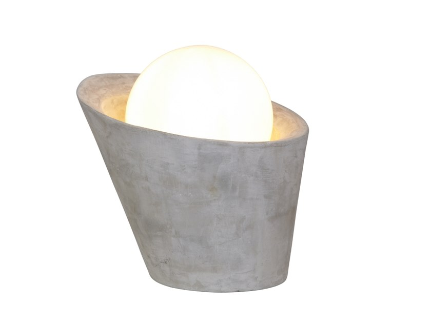 Cement table lamp VULCANO by luxcambra