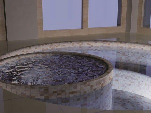 Vasche Idromassaggio in EPS VASCA CIRCOLARE CON RIVESTIMENTO IN MOSAICO