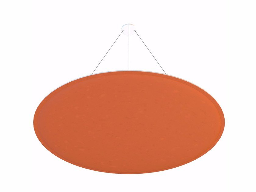 Hanging acoustical panel ViCloud ROUND PREMIUM by Vicoustic by Exhibo