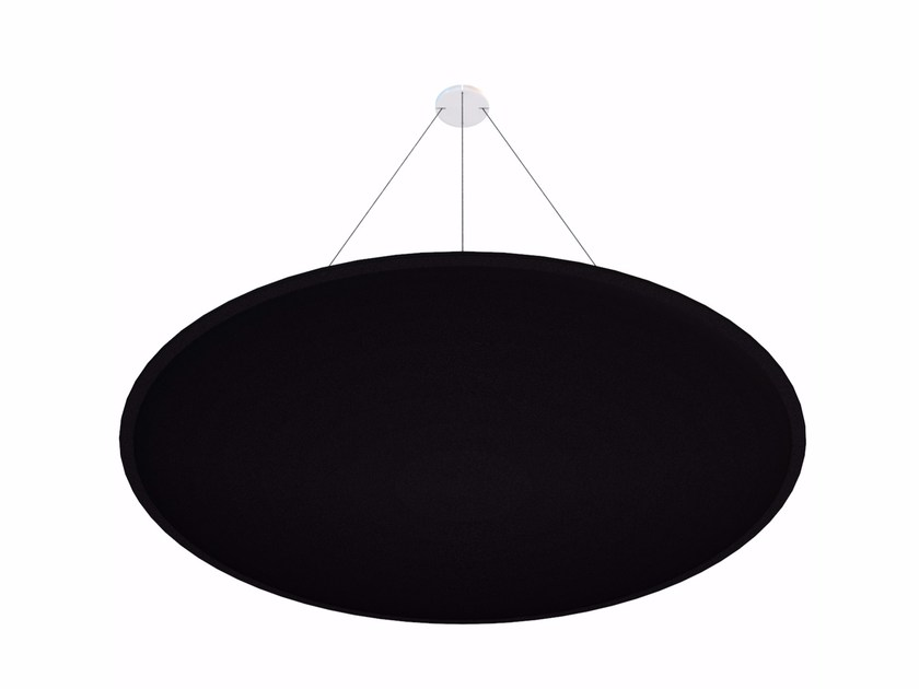 Hanging acoustical panel ViCloud ROUND by Vicoustic by Exhibo