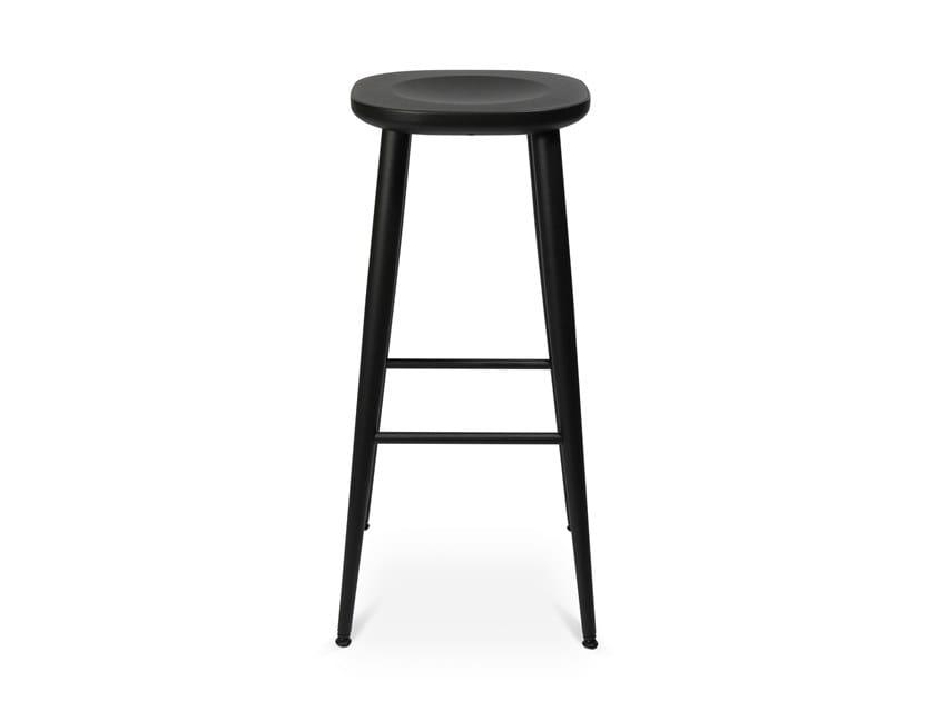 Aluminium stool with footrest W-2010 | Aluminium stool by WAGNER
