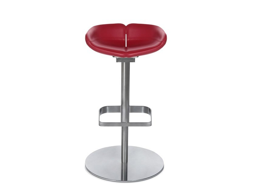 Swivel barstool with footrest W-COCKTAIL HIGH by WAGNER