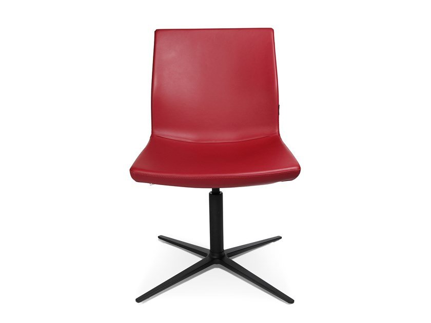 Swivel easy chair with 4-spoke base W-CUBE 4 by WAGNER
