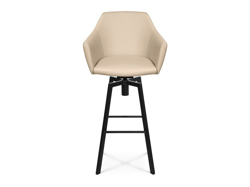 Swivel barstool with armrests W-CUBE 5 H | Barstool by Wagner