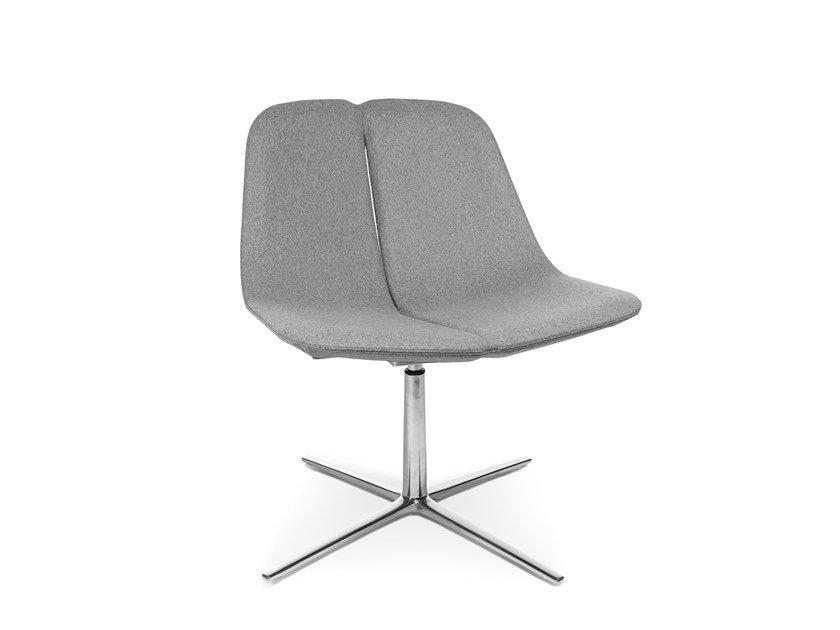 Swivel easy chair with 4-spoke base W-LOUNGE CHAIR 1 by WAGNER