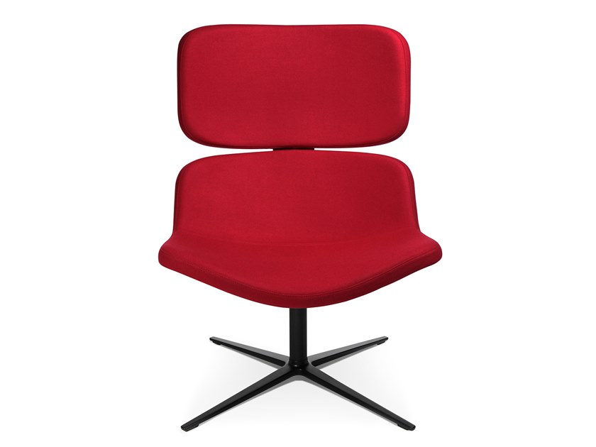 Swivel easy chair with 4-spoke base W-LOUNGE CHAIR 3 by WAGNER