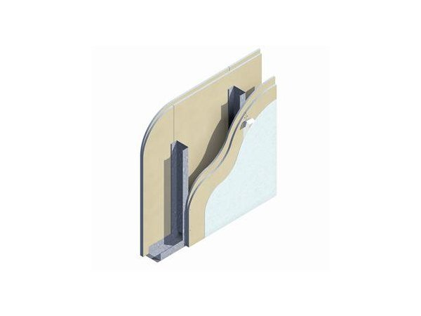 Fireproof panel for interior partition W112 EI120 by Knauf Italia