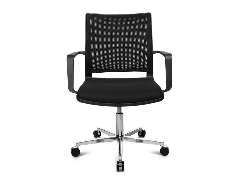 Swivel chair with 5-spoke base W70 3D by WAGNER
