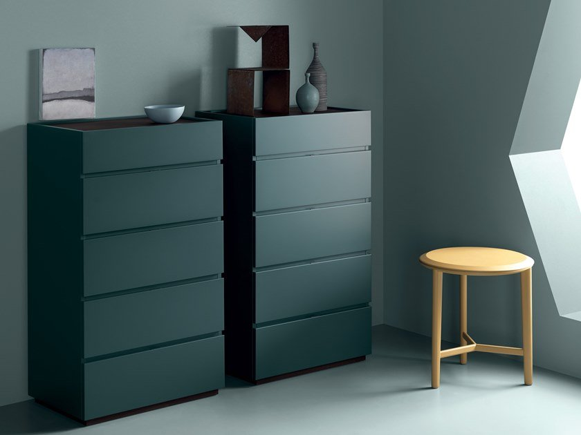Sectional lacquered chest of drawers WAFER | Chest of drawers by Md House