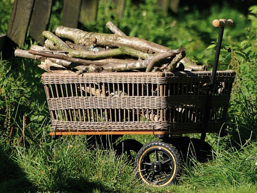 Garden trolley WAGON WITH BASKET by TRADEWINDS