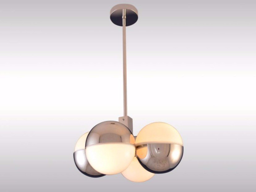 Direct-indirect light pendant lamp WAHRHAFTIG by Woka Lamps Vienna