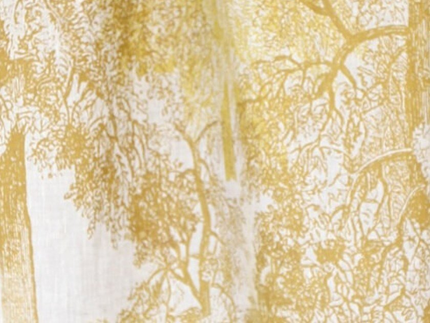 Linen fabric for curtains WALD by Birgit Morgenstern Studios