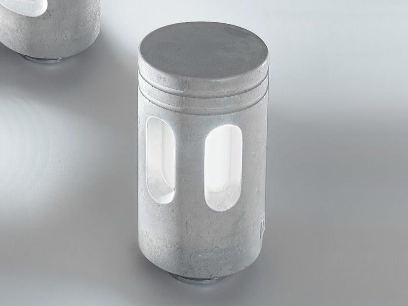 Cement bollard light WALKING | Cement bollard light by Aldo Bernardi