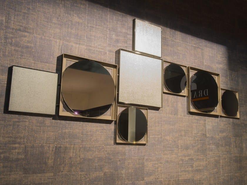 Wall-mounted mirror WALL COMPOSITION by F.lli Orsenigo