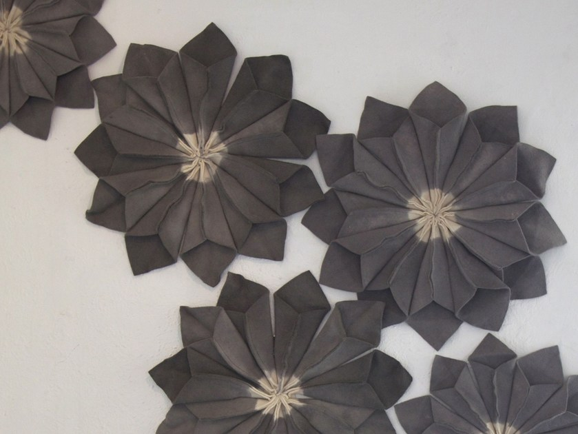 Wool felt decorative acoustical panel WALL FLORAL UNITS by Ronel Jordaan