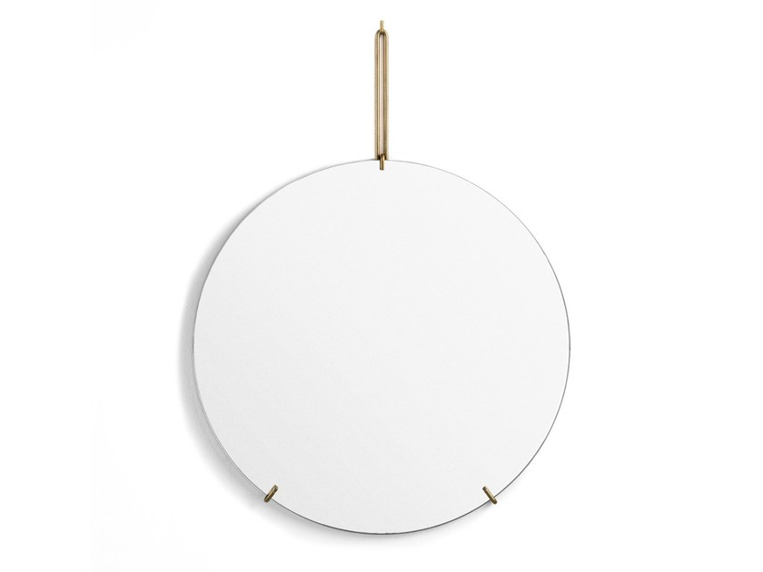 Wall Mounted Round Mirror Brass By Moebe