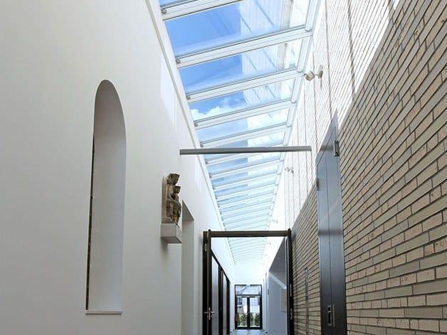 Finestra da tetto in acciaio e vetro WALL-MOUNTED LONGLIGHT 5-45° by Velux Commercial