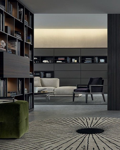 wall system by poliform. Black Bedroom Furniture Sets. Home Design Ideas