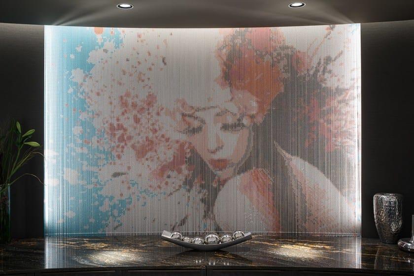 Tende A Filo Effetto Parete.Tenda A Fili In Alluminio Wallcovering Fixed Hotel Kriskadecor