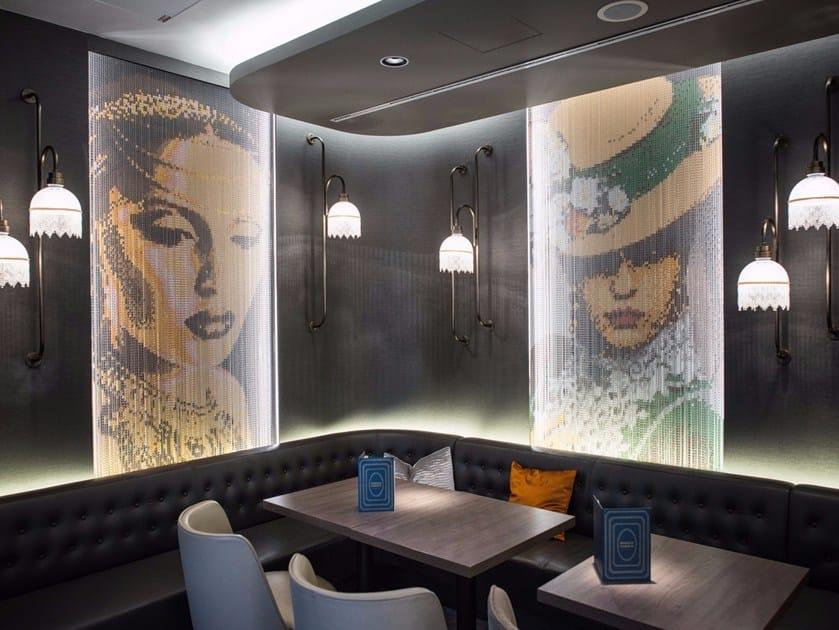 Aluminium chain curtain WALLCOVERING - FIXED HOTEL by Kriskadecor