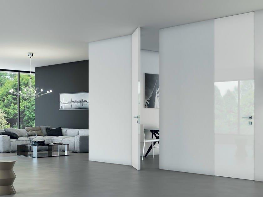 Porta a filo muro a tutt 39 altezza walldoor massima bertolotto porte - Verniciare finestre alluminio ...