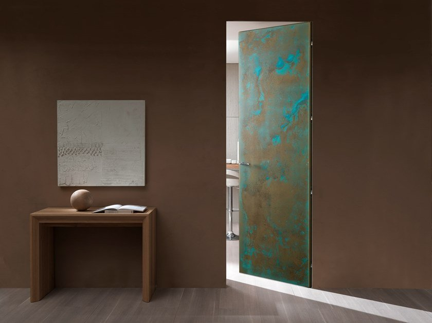 Flush-fitting metal door with concealed hinges WALLDOOR SURFACE METALLI by Bertolotto Porte
