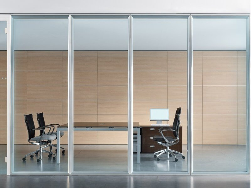 Acoustic glass office partition WALLTECH by ESTEL GROUP