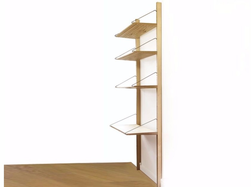 Sectional multi-layer wood bookcase WALLUM by MALHERBE EDITION