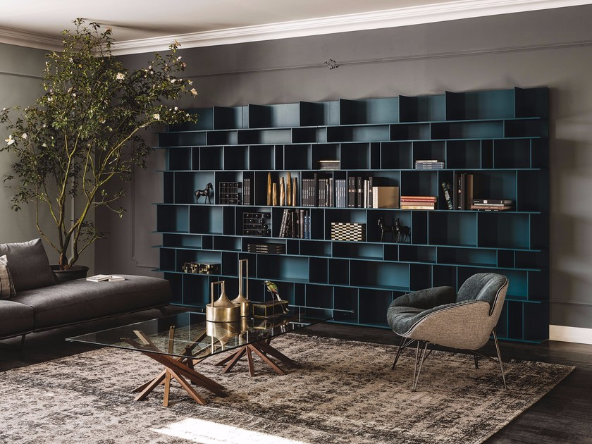 living room storage system libreria componibile laccata in mdf wally cattelan italia 15384