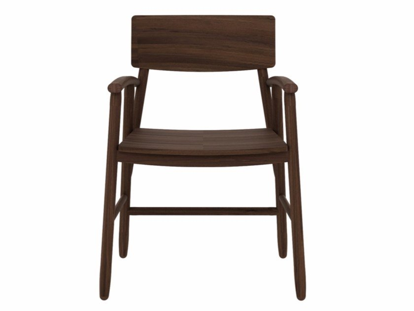 Walnut chair with armrests WALNUT BJORSING CHAIR by Ethnicraft
