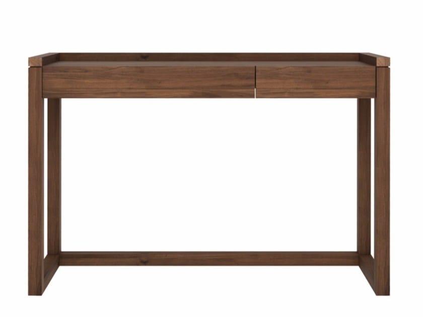 Rectangular walnut writing desk with drawers WALNUT FRAME | Writing desk by Ethnicraft
