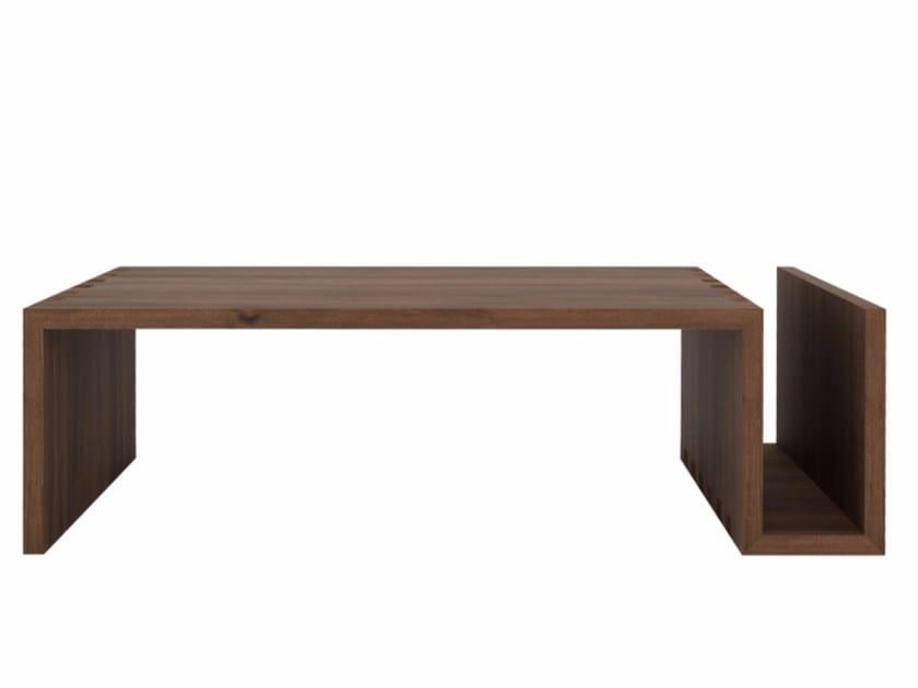 Rectangular walnut coffee table WALNUT NAOMI   Coffee table by Ethnicraft