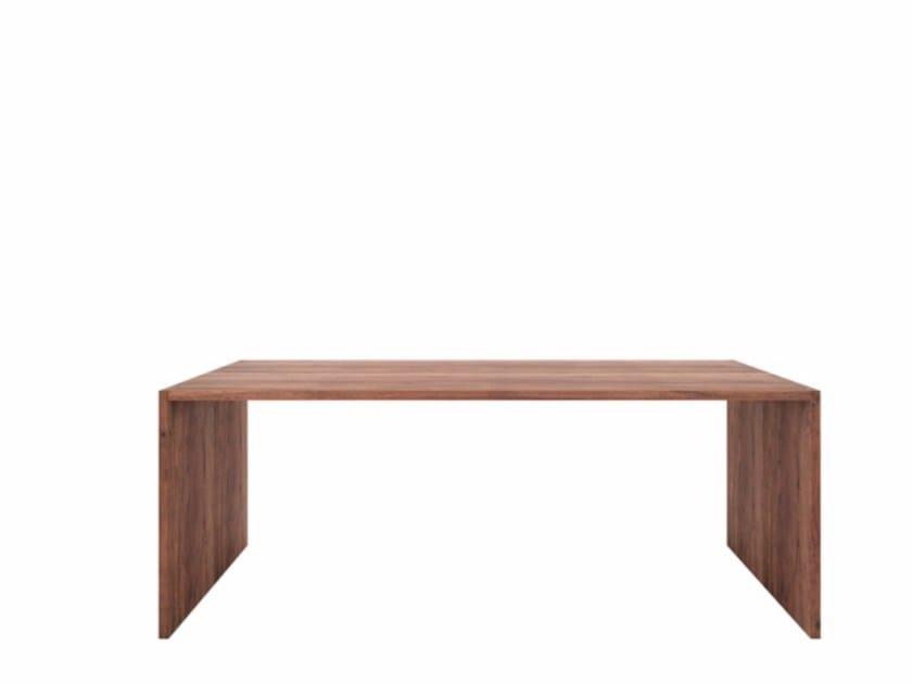 Rectangular walnut writing desk WALNUT OFFICE U TABLE by Ethnicraft