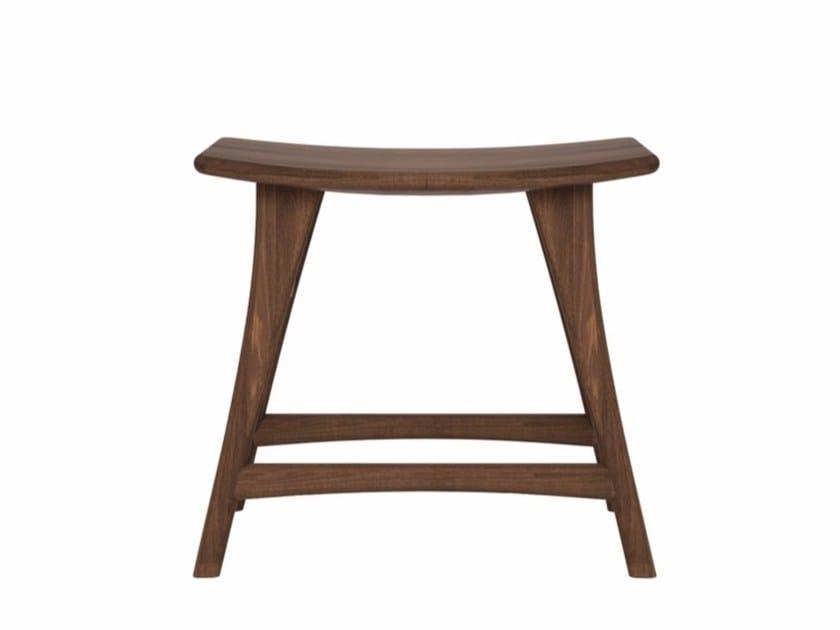 Low walnut stool WALNUT OSSO | Low stool by Ethnicraft