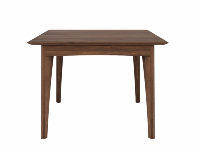 Square walnut dining table WALNUT OSSO | Square table by Ethnicraft