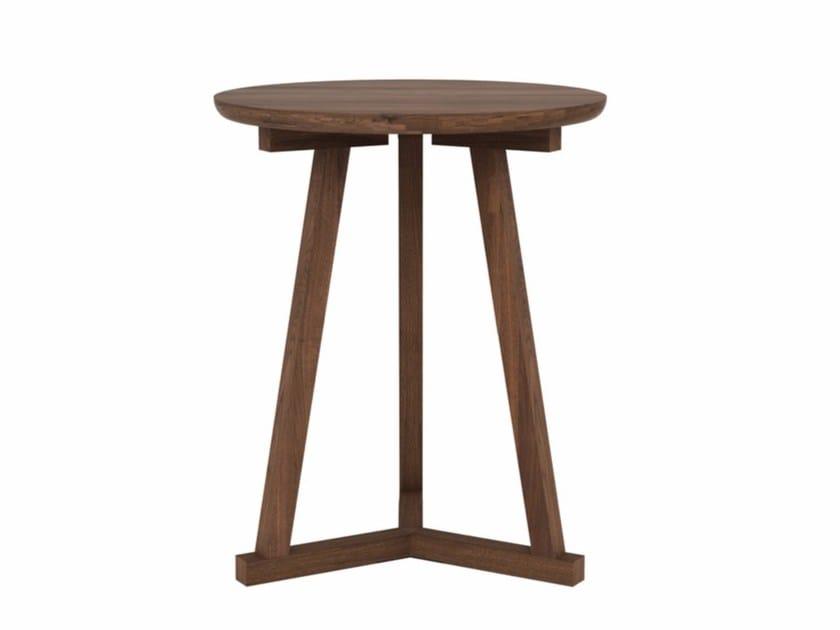 Round Walnut Coffee Table WALNUT TRIPOD | Coffee Table By Ethnicraft